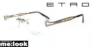 ETRO エトロレディース眼鏡 メガネ フレームET2500J-229-55 度付可縁なし ブラウン