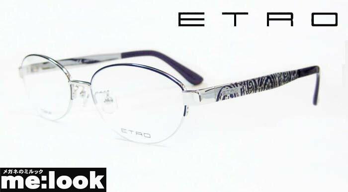 ETRO エトロレディースメガネ フレームET2501J-044-53 度付可シルバー/パープル