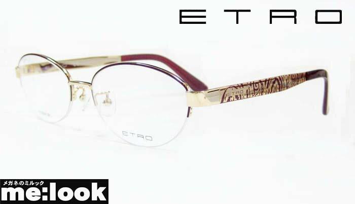 ETRO エトロレディースメガネ フレームET2501J-720-53 度付可ゴールド/ワインパープル