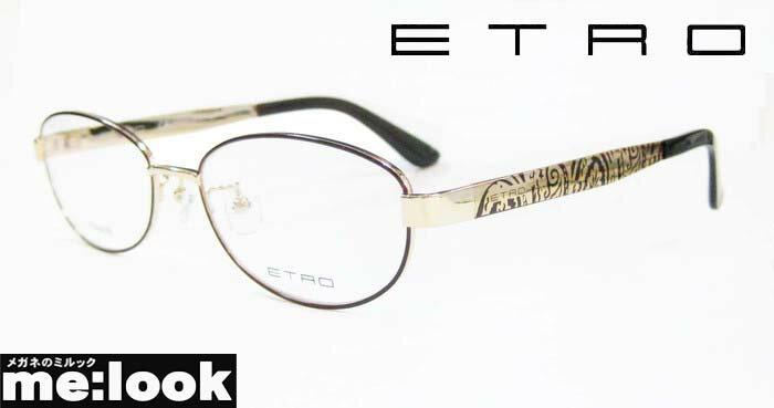 ETRO エトロレディースメガネ フレームET2502J-710-52 度付可ゴールド/ブラウン