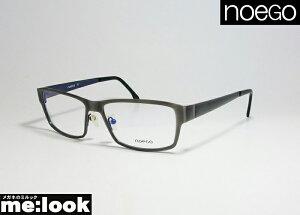 noego ノエゴフランスの手作りメガネフレーム眼鏡 メガネ フレームfaience3-61 サイズ53度付可 グレイ/ネイビー