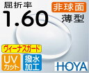 HOYA 非球面1.60薄型レンズUVカット、超撥水傷に最も強いヴィーナスガード(2枚価格) レンズ交換のみでもOK