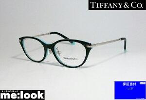 TIFFANY&CO ティファニーレディース 眼鏡 メガネ フレームアジアンフィットTF2210D-8055-52 度付可ブラック ティファニーブルー