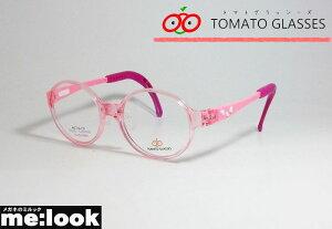 TOMATO GLASSES トマトグラッシーズ安全 安心 軽量 柔らかいキッズ Jr ジュニア 子供用眼鏡 メガネ フレームTKBC8-PKPK-44クリアピンク