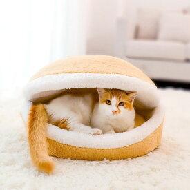 ペットベッド ペットクッション 猫ベッド 犬ベッド ハンバーガー式 寝床 ペット用品 冬 寝袋 ネコ イヌ あったか 丸洗い 寝具 ふわふわ 保温防寒ベッド 犬猫兼用 洗える ペット用品 寒さ対策 クッション 猫ベッド 犬ベッド クッション ペット寝具 もこもこ