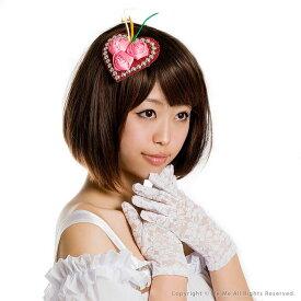 ヘッドドレス ヘッドアクセサリー 帽子 ハット ツバなしハット ハート×ローズ ヘッドアクセサリー(レッド×ピンク)[sl70357]ダンス コスプレ 結婚式 ウェディング パーティー 衣装にもアクセサリー