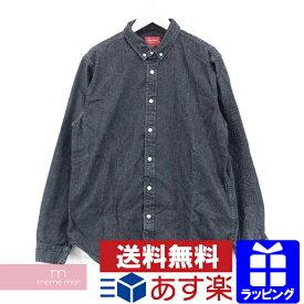 3436a66d9f Supreme 2018SS Denim Shirt シュプリーム スリーブロゴデニムシャツ 長袖シャツ ブラック サイズL プレゼント ギフト