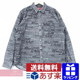 Supreme 2019AW Dimensions Logo Denim Shirt シュプリーム ディメンションロゴデニムシャツ 長袖シャツ ジーンズ ブラック サイズL プレゼント ギフト【190916】