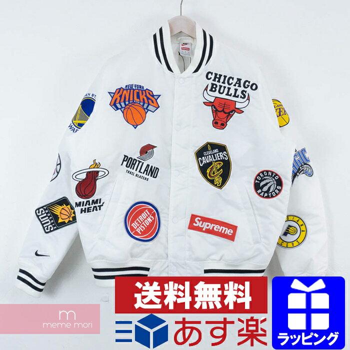 Supreme×NIKE 2018SS NBA Teams Warm-Up Jacket シュプリーム×ナイキ NBAチームウォームアップジャケット ホワイト サイズM プレゼント ギフト【190224】