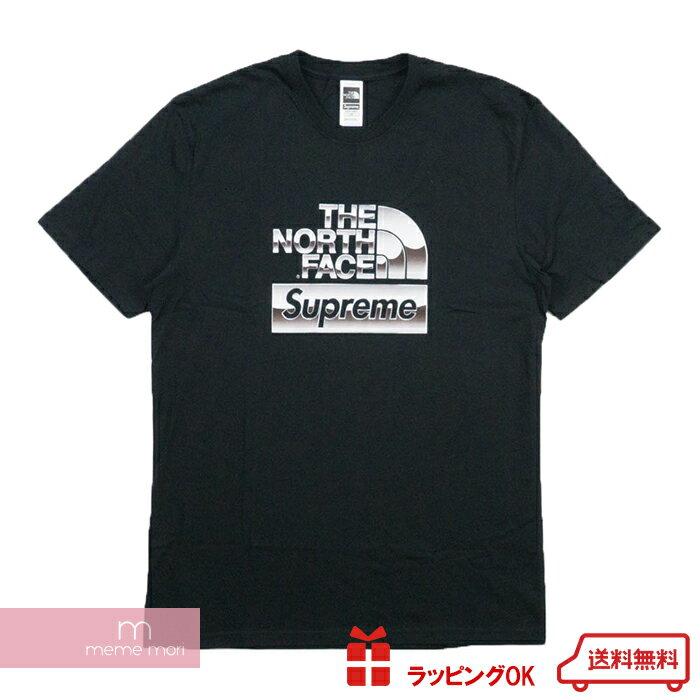 Supreme×THE NORTH FACE 2018SS Metallic Logo Tee シュプリーム×ノースフェイス メタリックロゴTシャツ ブラック【181227】 バレンタイン プレゼント ギフト