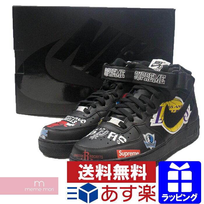 Supreme×NIKE 2018SS NBA Teams Air Force 1 MID '07 AQ8017-001 シュプリーム×ナイキ エアフォース1 スニーカー シューズ 靴 ブラック プレゼント ギフト【190201】
