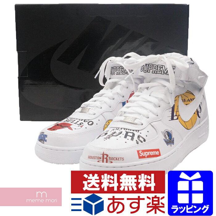 Supreme×NIKE 2018SS NBA Teams Air Force 1 MID '07 AQ8017-100 シュプリーム×ナイキ エアフォース1 スニーカー シューズ 靴 ホワイト プレゼント ギフト【190404】【gs】