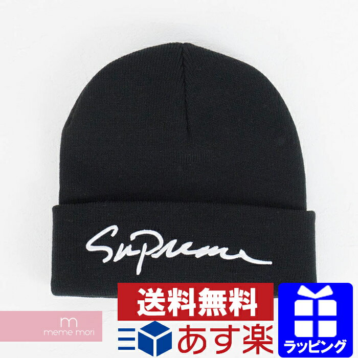 Supreme 2018AW Classic Script Beanie シュプリーム クラシックロゴスクリプト ビーニー ニットキャップ ニット帽 ブラック