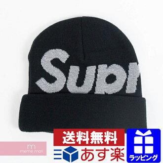 Supreme 2018AW Reflective Big Logo Beanie シュプリームリフレクティブビッグロゴビーニーニット hat  black present gift e448ce3d08b1