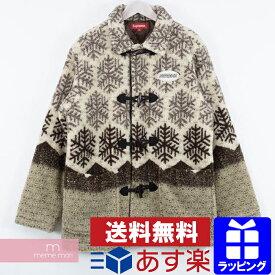 【全品12%OFF&P5倍!11/26まで】Supreme 2018AW Snowflake Toggle Fleece Jacket シュプリーム スノーフレイクトグルフリースジャケット ロングコート ベージュ サイズM プレゼント ギフト