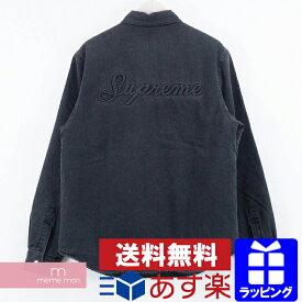 Supreme 2018AW Sherpa Lined Denim Shirt シュプリーム シェルパラインドデニムシャツ ジャケット ボア ブラック サイズS プレゼント ギフト【191116】