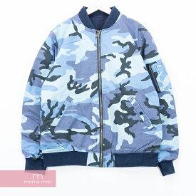 【タイムセール!22日まで】Supreme 2015SS Reversible Cotton MA-1 Jacket シュプリーム リバーシブルコットンMA-1ジャケット カモフラ ヴィンテージ加工 ブルー×ネイビー サイズXL【200119】