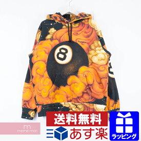 【全品15%OFF&クーポン!】Supreme×Martin Wong 2019AW 8-Ball Hooded Sweatshirt シュプリーム×マーティン・ウォン エイトボールフーデッドスウェットシャツ 総柄プルオーバーパーカー オレンジ サイズS【200323】【新古品】