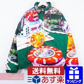 Supreme 2018AW Casino Down Jacket シュプリーム カジノダウンジャケット 総柄ブルゾン グリーン×マルチカラー サイズL【190609】