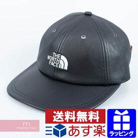 Supreme×The North Face 2018AW Leather 6-Panel Cap シュプリーム×ノースフェイス レザー6パネルキャップ 帽子 ブラック 【200816】【新古品】