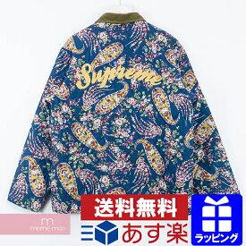 Supreme 2019AW Quilted Paisley Jacket シュプリーム キルテッドペイズリージャケット 総柄キルティングブルゾン バックロゴ ダークブルー サイズL 【200210】