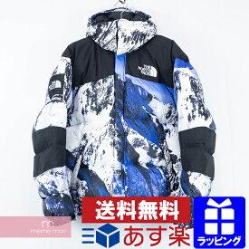 Supreme×THE NORTH FACE 2017AW Mountain Baltoro Jacket シュプリーム×ノースフェイス マウンテンバルトロジャケット 雪山 ダウンブルゾン 総柄プリント ホワイト×ブルー サイズL【200218】