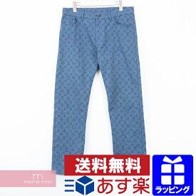 【全品10%OFF&冬物売切セール!26日まで】LOUIS VUITTON 2019AW Monogram Slim Jeans RM192M QJQ HHD20W ルイヴィトン モノグラムスリムジーンズ 総柄ロゴデニムパンツ ネイビー サイズ31【200219】