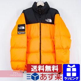 Supreme×THE NORTH FACE 2016AW Nuptse Jacket シュプリーム×ノースフェイス ヌプシジャケット ダウンブルゾン パワーオレンジ サイズL 【200322】【中古-A】