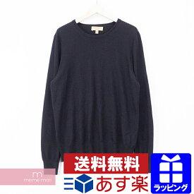 【セール】BURBERRY Crewneck Knit Sweater 4003989 バーバリー Crewneck Knit Sweater クルーネックニットセーター ウールエルボーパッチ ブラック サイズXL【200505】【中古-A】【me04】