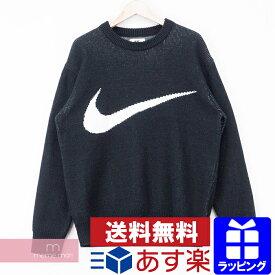 Supreme×NIKE 2019SS Swoosh Sweater BV7549-010 シュプリーム×ナイキ スウォッシュセーター スウッシュロゴ ニット ブラック サイズM【200627】【中古-B】