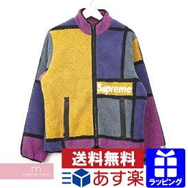【セール】Supreme 2020AW Reversible Colorblocked Fleece Jacket シュプリーム リバーシブルカラーブロックフリースジャケット ブルゾン マルチカラー×パープル サイズM【210111】【新古品】【me04】