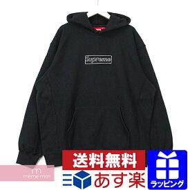 Supreme×KAWS 2021SS Chalk Logo Hooded Sweatshirt シュプリーム×カウズ チョークロゴフーデッドスウェットシャツ プルオーバーパーカー ボックスロゴ ブラック サイズL 【210221】【新古品】【me04】