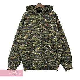 Supreme 2021SS Small Box Hooded Sweatshirt Camo シュプリーム スモールボックスフーデッドスウェットシャツ パーカー カモ グリーン サイズXL 【210907】【新古品】【me04】