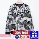 Supreme 2020SS Cartoon Sweater シュプリーム カートゥーンセーター クルーネックニット 総柄 グレー×ブラック サイ…
