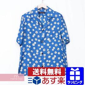 【セール】LOUIS VUITTON 2018AW Dice Hawaiian Shirt 1A480O ルイヴィトン ダイスハワイアンシャツ 半袖オープンカラー総柄シャツ サイコロ シルク ブルー サイズS【201021】【新古品】