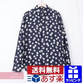 LOUIS VUITTON 2018AW Dice Shirt RM182M HKZ HFS08W ルイヴィトン ダイスシャツ 総柄シャツ サイコロ シルク ネイビー サイズL【201021】【中古-A】