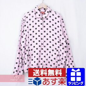 Supreme 2018SS Polka Dots Rayon Work Jacket シュプリーム ポルカドットレーヨンワークジャケット ジップブルゾン ピンク サイズL【201127】【中古-B】