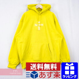 Supreme 2020AW Cross Box Logo Hooded Sweatshirt シュプリーム クロスボックスロゴフーデッドスウェットシャツ プルオーバー パーカー イエロー サイズXL 【201209】【新古品】【me04】