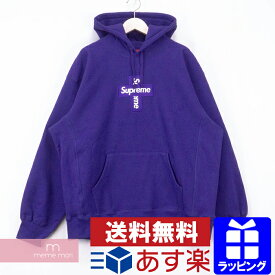 Supreme 2020AW Cross Box Logo Hooded Sweatshirt シュプリーム クロスボックスロゴフーデッドスウェットシャツ プルオーバー パーカー パープル サイズS【201209】【新古品】【me04】