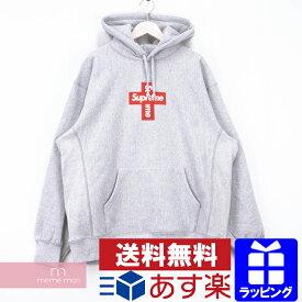 【SPセール】Supreme 2020AW Cross Box Logo Hooded Sweatshirt シュプリーム クロスボックスロゴフーデッドスウェットシャツ プルオーバー パーカー グレー サイズXL【201209】【新古品】【me04】
