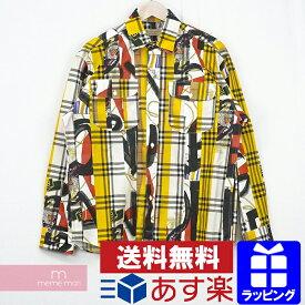 【SPセール】BURBERRY Chester Mixed Print Plaid Regular Fit Button Down Shirt 8001278 バーバリー チェスターミクスドプリントプレイドレギュラーフィットシャツ チェック総柄 マルチカラー サイズL【201221】【中古-B】