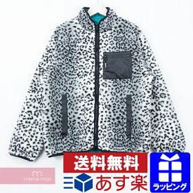 【全品10%OFF&冬物売切セール!26日まで】Supreme 2017AW Leopard Fleece Reversible Jacket シュプリーム レオパードフリースリバーシブルジャケット ジップアップボアブルゾン スモールボックスロゴ グレー×ブラック サイズM プレゼント ギフト【191201】