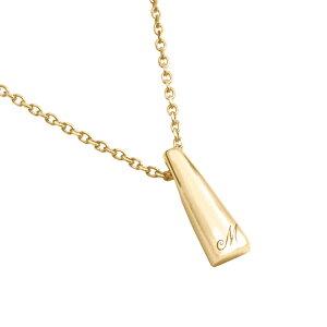 遺骨ペンダント 完全防水 セミオーダーメモリアルジュエリー LP02 イニシャルプチ ゴールド製