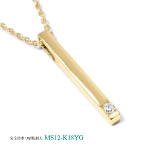 メモリアルジュエリーMS12【K18YG/2.5mmのダイヤモンドまたは誕生石】樹脂埋封セミオーダー遺骨ペンダント