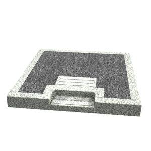 メモリアル石材工業 外枠囲い石(御影石)【クリ段入口付き型】