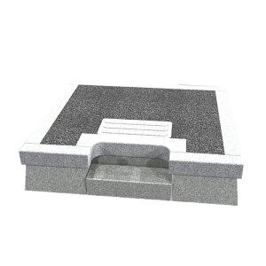 メモリアル石材工業 外枠囲い石(御影石)【舞台式入口付型】