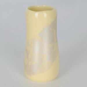 【4/16までP3倍】陶器 まるか カナリアイエロー 花立(花瓶)