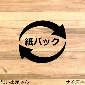 【ゴミ分別・ゴミラベル】貼ってリサイクル!紙パックステッカーシール
