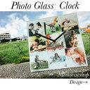 【結婚祝い・クリスマスプレゼント】恋人や大切な人に!写真入りオーダーメイドガラス時計【誕生日プレゼント・婚約祝…