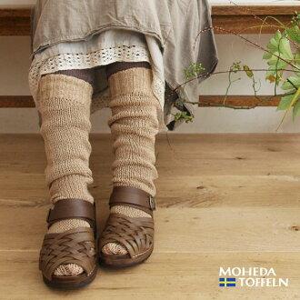 皮革网眼木鞋凉鞋 (MOHEDA TOFFELN 1001)